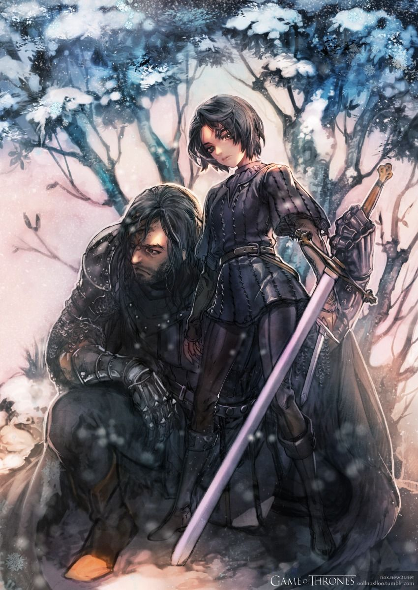 Game Of Thrones The Hound And Arya Stark Arte Game Of Thrones