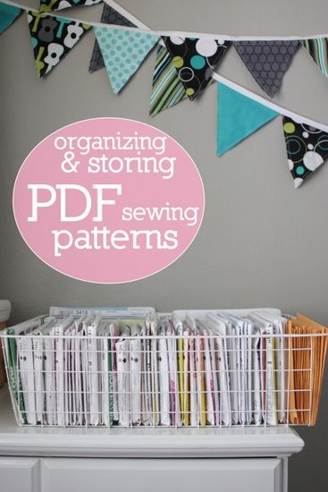 don\'t know how to store all those printable PDF sewing patterns ...