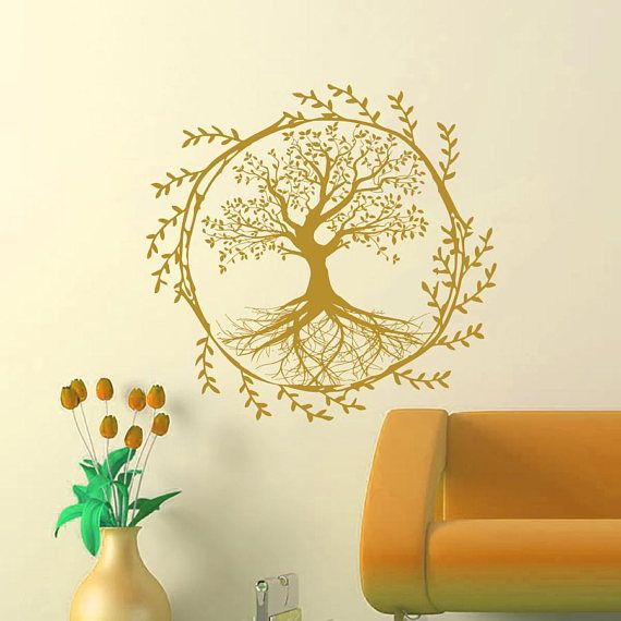 Tree Wall Decals Family Decal Rustic Wall Decal Tree Wall Art | Tree ...