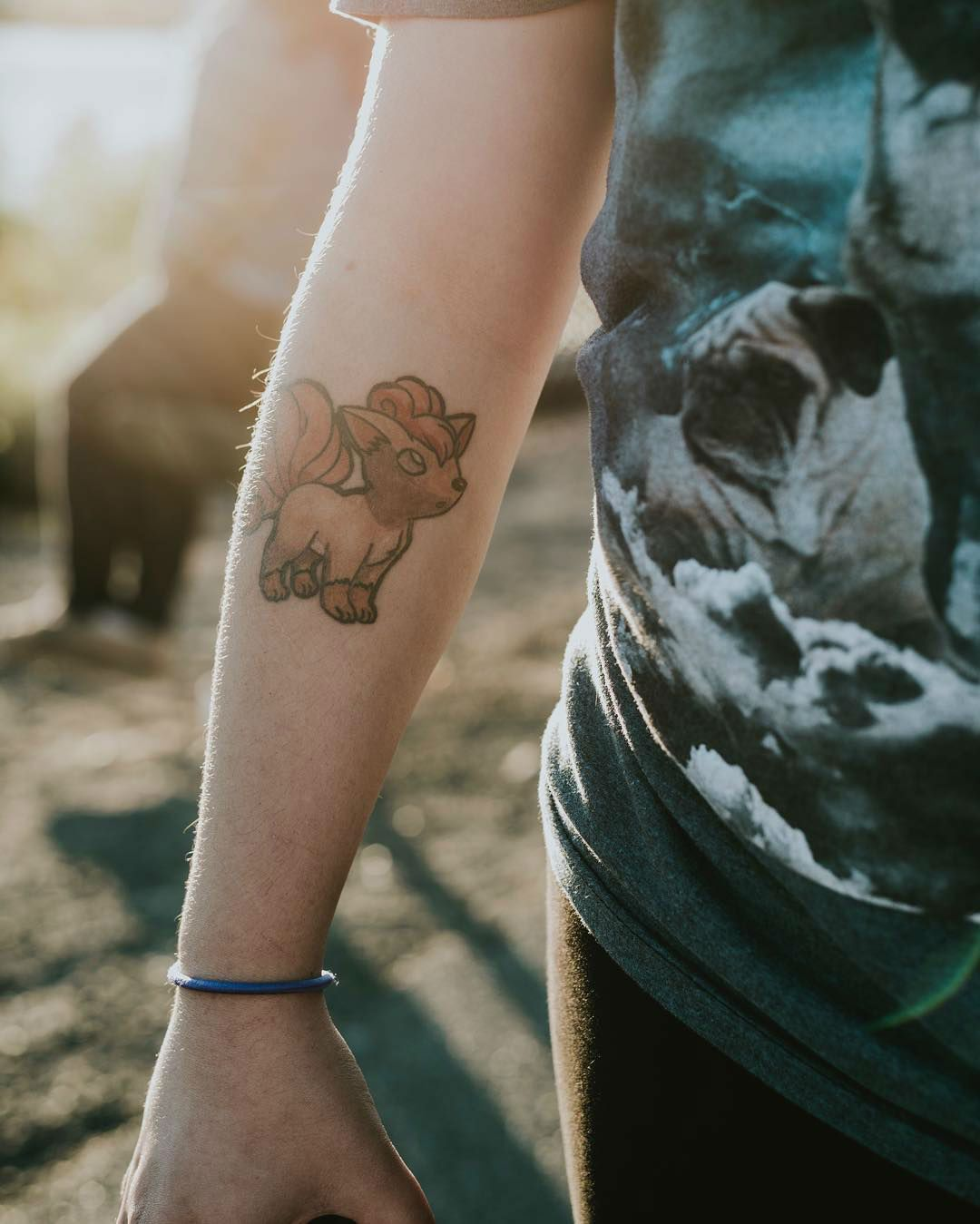 8e62e26aa 'Vulpix' or 'The Fox Pokemon', a beautiful and graceful Pokemon; tattoo is  done marvelously.