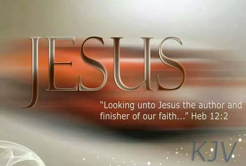 Image result for author and finisher of our faith kjv