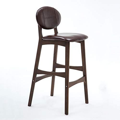 Agfxn Counter Bar Stools With Back Support Trapezoidal Frame Dining Chair Wooden Height Stool Multiple Colo Bar Stools Kitchen Bar Stools Bar Stools With Backs