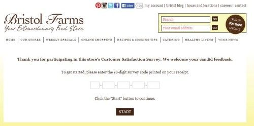 Bristol Farms Customer Satisfaction Survey WwwBristolfarmsCom