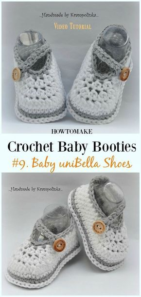 Baby Booties Free Crochet Patterns | Häkeln | Pinterest ...