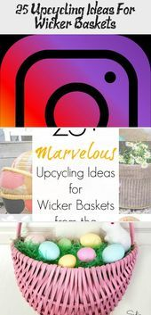 Photo of 25+ Upcycling Ideas For Wicker Baskets – Pinokyo  Baskets from the thrift store …