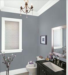 Benjamin Moore Deep Silver Purple Bathrooms Painting Bathroom