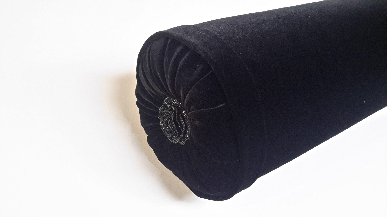 black velvet bolster pillow size 20