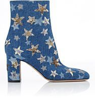 Valentino Embellished Ankle Boots-Colorless