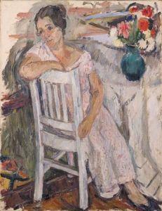 Portrait of Artist's Wife - Abraham A. Manievich - The Athenaeum
