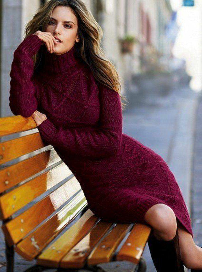 fb7677db4e1b ▷ 1001+ Idées pour porter votre robe en laine + les looks hot ...
