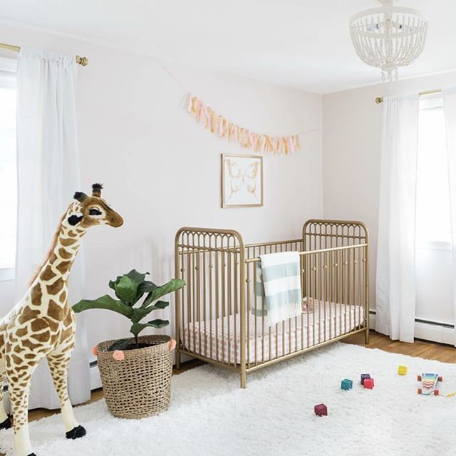 Less Is Totally More In This Super Sweet Bright And Airy Nursery Design By Donnagarlough Littleseedskids Wayfair