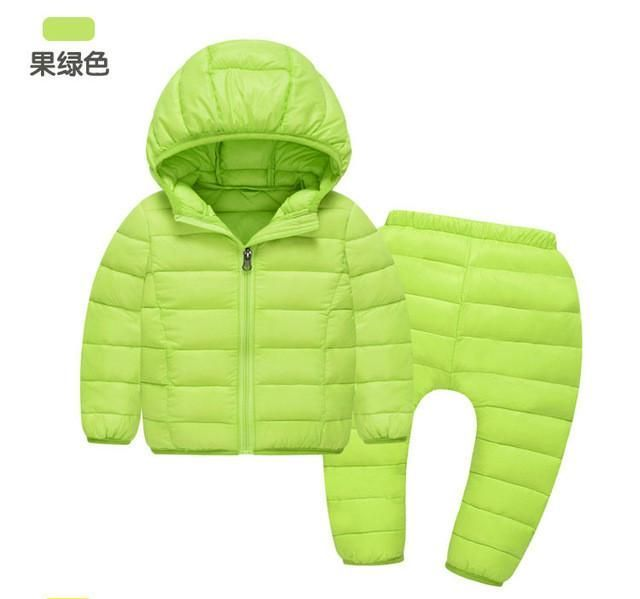 Jacket Overalls Outerwear Baby Suits Coat + Pants Set