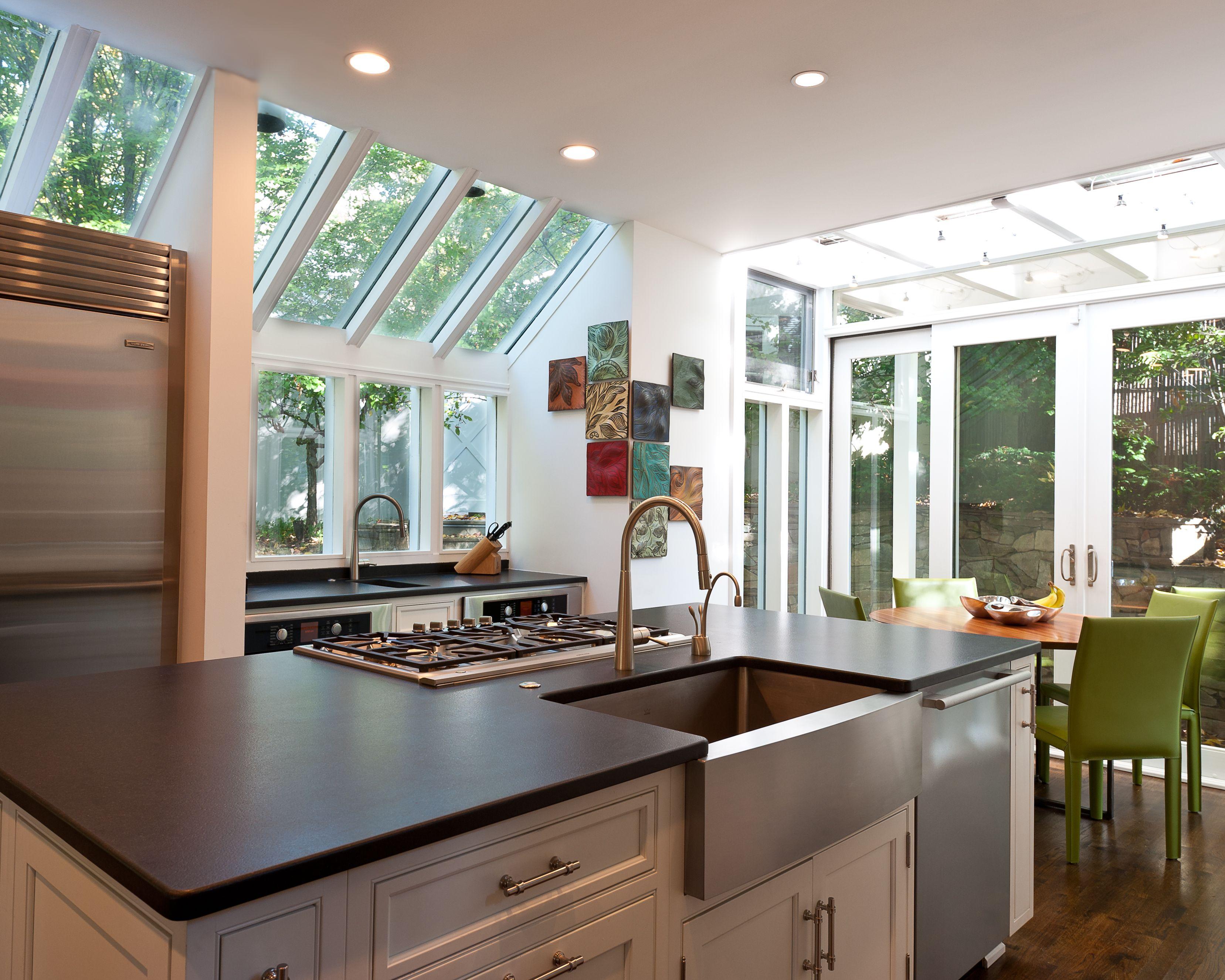 Modern white kitchen designed by kitchen elements of olney maryland