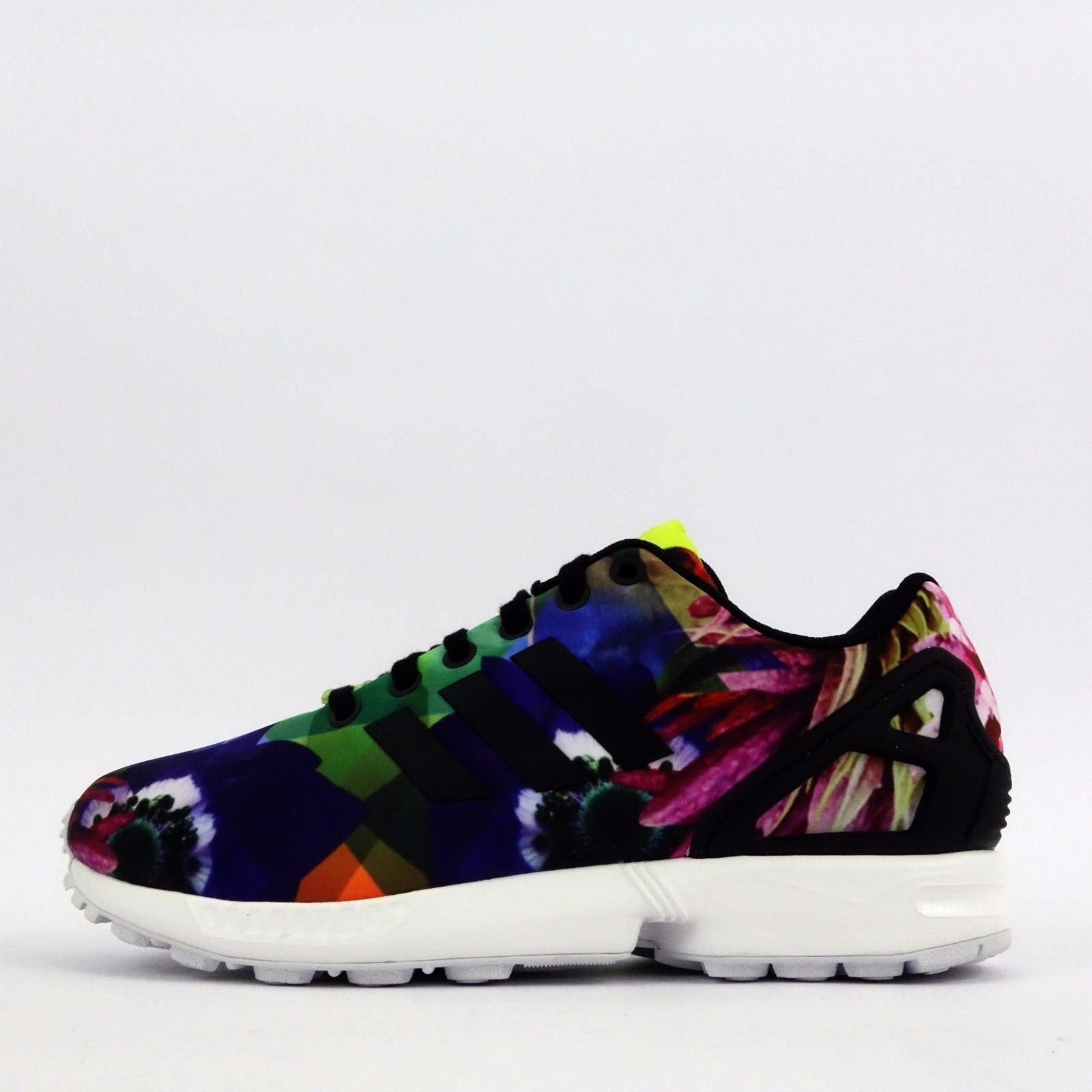 brand new b7b61 0532c Adidas Originals Zx Flux, Men s Shoes, Trainers, Floral Prints, Barcelona,  Printing