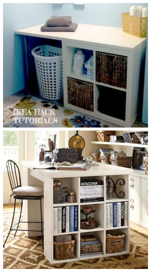 Ikea Kallax Cube Craft Table Diy Tutorial Diy Magazine In 2020 Craft Table Diy Craft Table Ikea Ikea Crafts