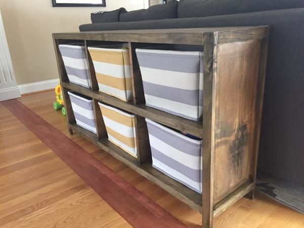 4 Cubby Bookshelf Or Nightstand Bookshelves Diy Cube Storage Diy Furniture Plans
