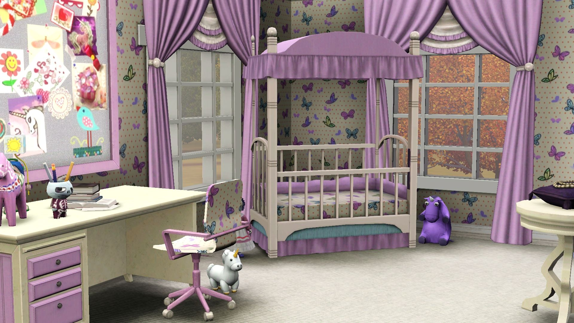 Bedroom Designs Sims 3 screenshot the sims 3 - cute pink baby room / for more daily sims