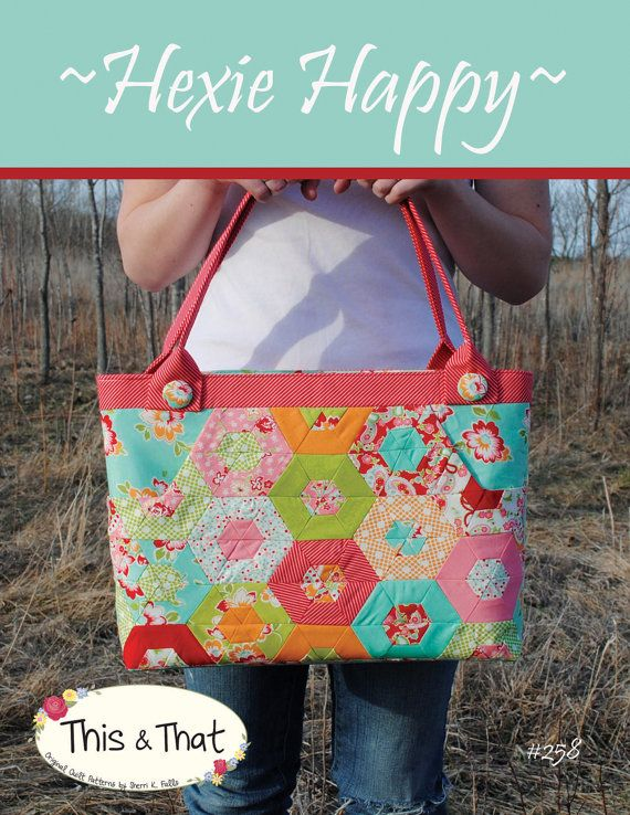 Hexi Happy Bag Pattern Bag Patterns And Quilted Bag