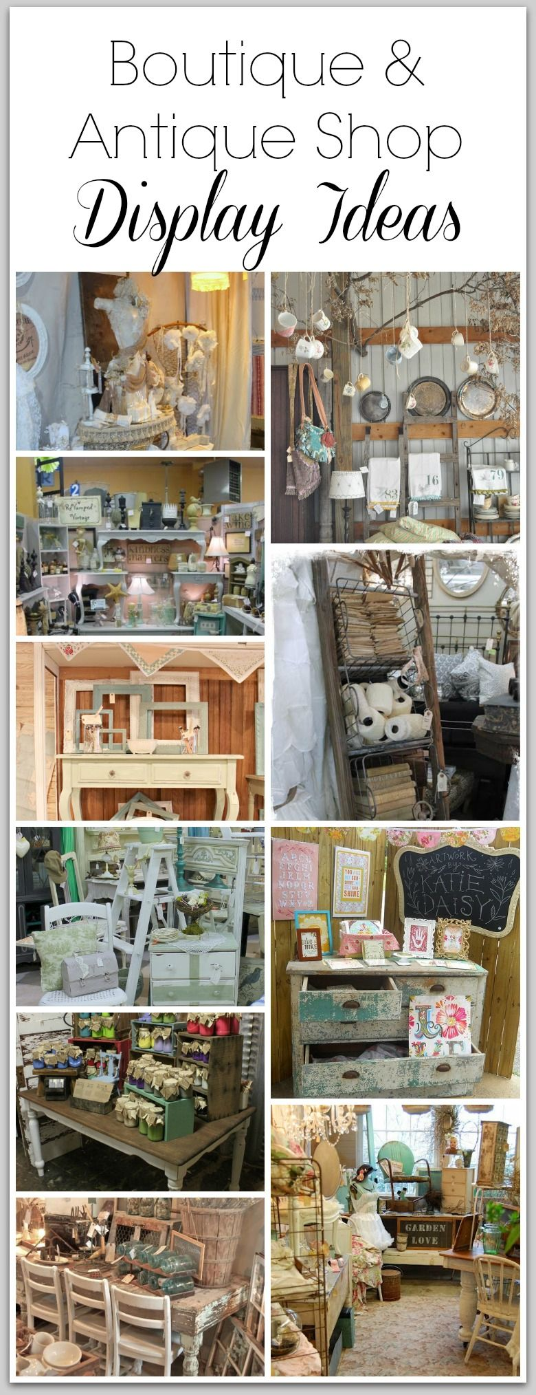 Ladentheke Vintage Boutique Antique Shop Display Ideas Flea Market Booth