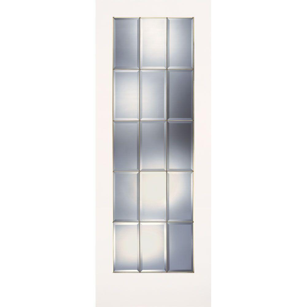 Feather River Doors 30 In X 80 In 15 Lite Clear Bevel Brass Smooth Primed Mdf Interior Door Slab Pm15012668b375 Interior Wood Stain Interior Columns Interior Design Degree
