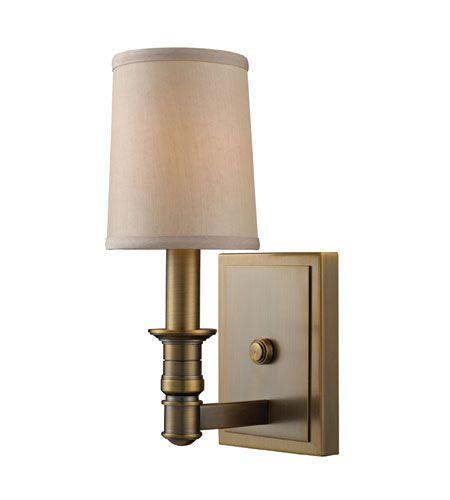 ELK Lighting Baxter 1 Light Wall Sconce in Brushed Antique Brass 31260/1