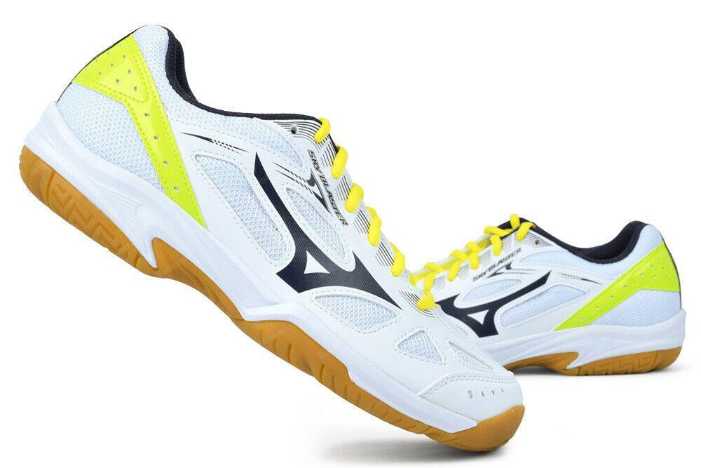 Mizuno Sky Blast Badminton Shoes Unisex Indoor Sport Shoe Yellow Nwt 71ga194505 Mizuno Badminton Shoes Sport Shoes Indoor Sports