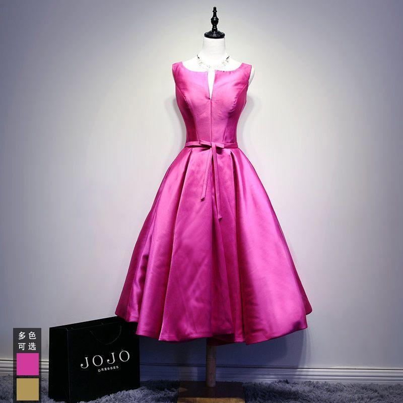 Click to Buy << IBayU Champange/Fushia Short Prom Dresses Vestidos ...