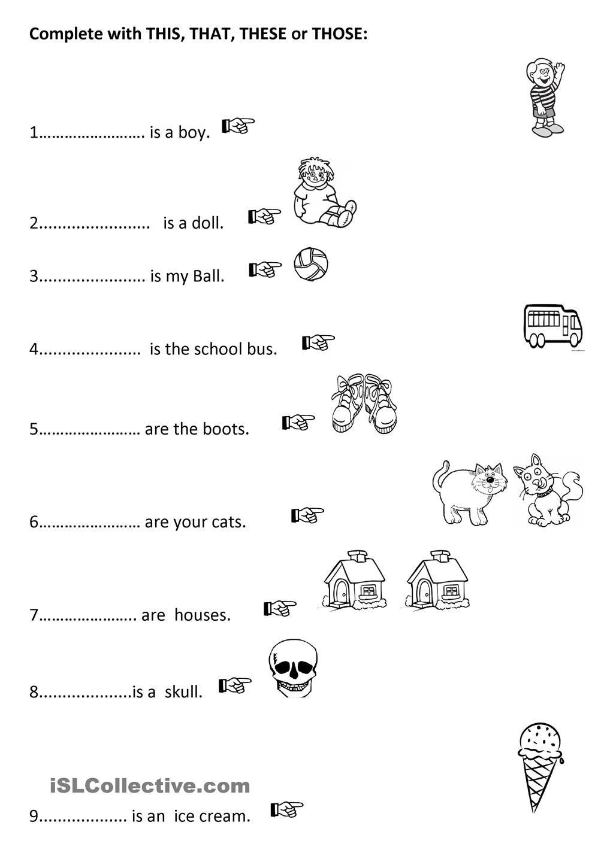 DEMONSTRATIVES | EL grade 3 | Pinterest | English language ...