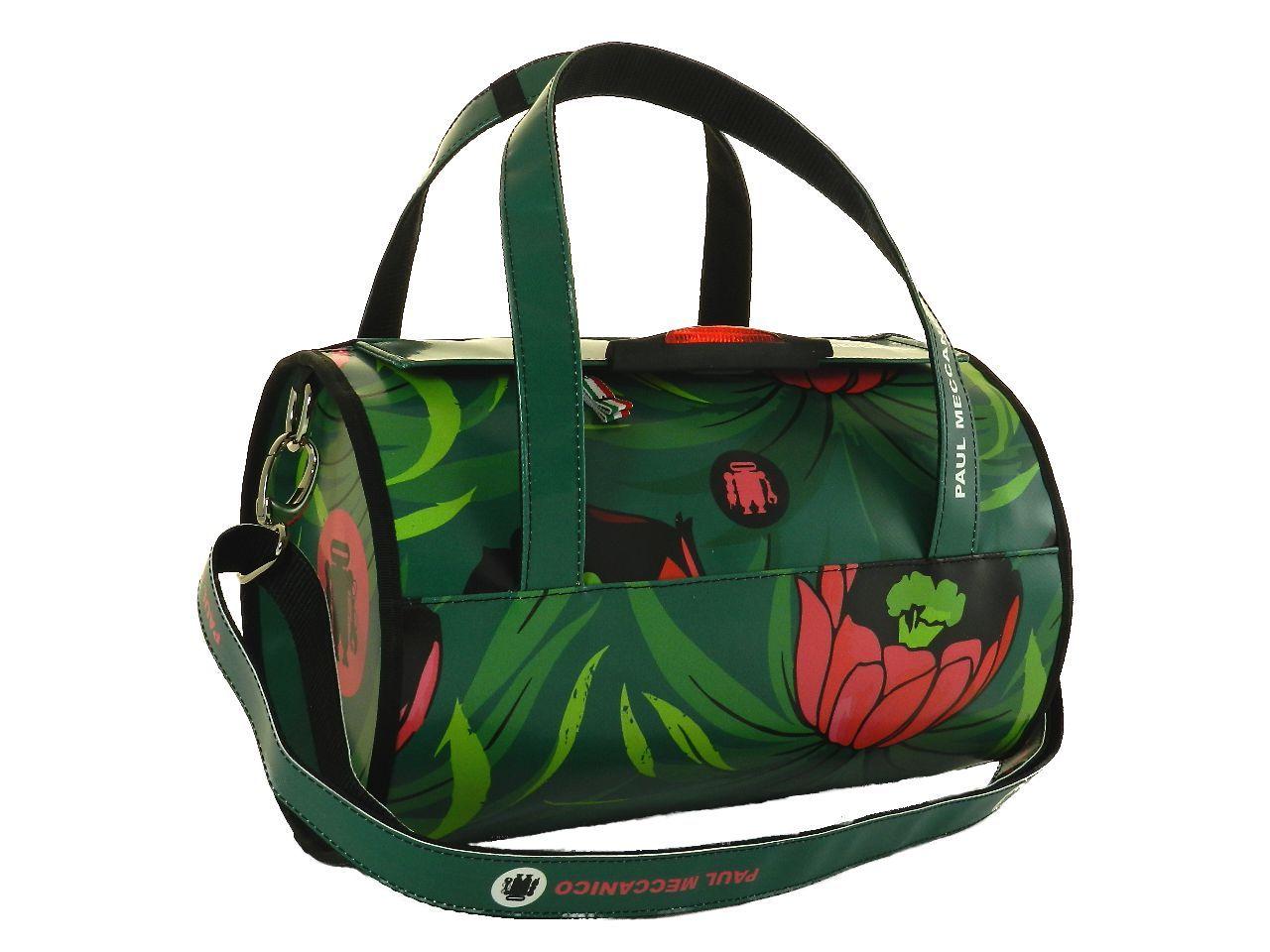 4fcf52f1f7 Borsa bauletto donna color verde con fantasia bosco. Pezzo unico al mondo  by Paul Meccanico.