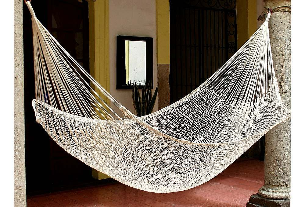 Classic Single Hammock, Ivory Hammock, Outdoor hammock