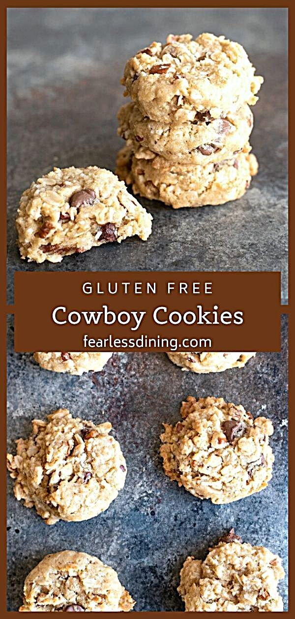 - You are going to want to make a double batch of these delicious gluten free cowboy cookies because...