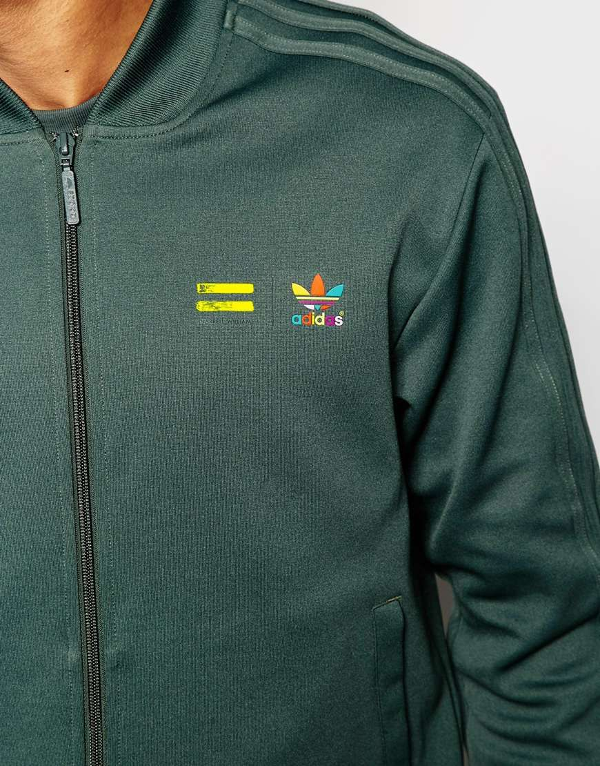 5b96d30a7 Image 3 of adidas Originals X Pharrell Williams Supercolour Track Jacket Co- ord