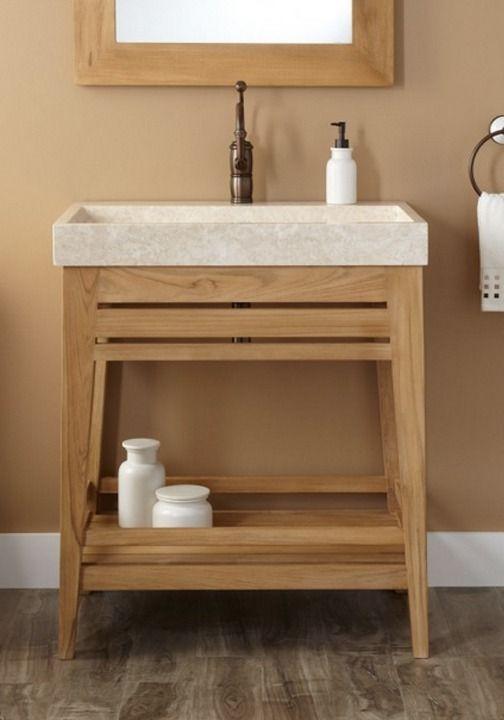 30 Aurelia Teak Trough Sink Vanity Bathroom Rustic Bathroom