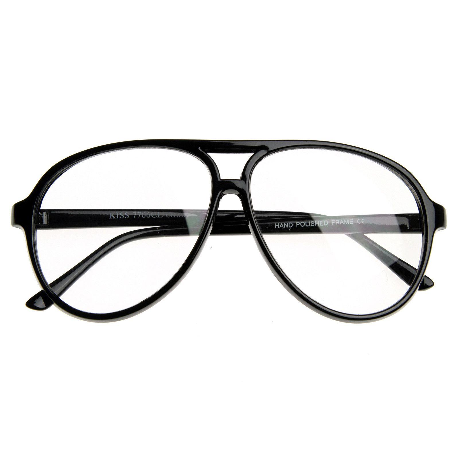 6a49a4f5dc77 80s Retro Classic Vintage Large Bold Tear Drop Clear Lens Aviator Glasses  8062 #frame #clear #bold #purple #sunglassla #mirrored #womens #cateye # sunglass # ...