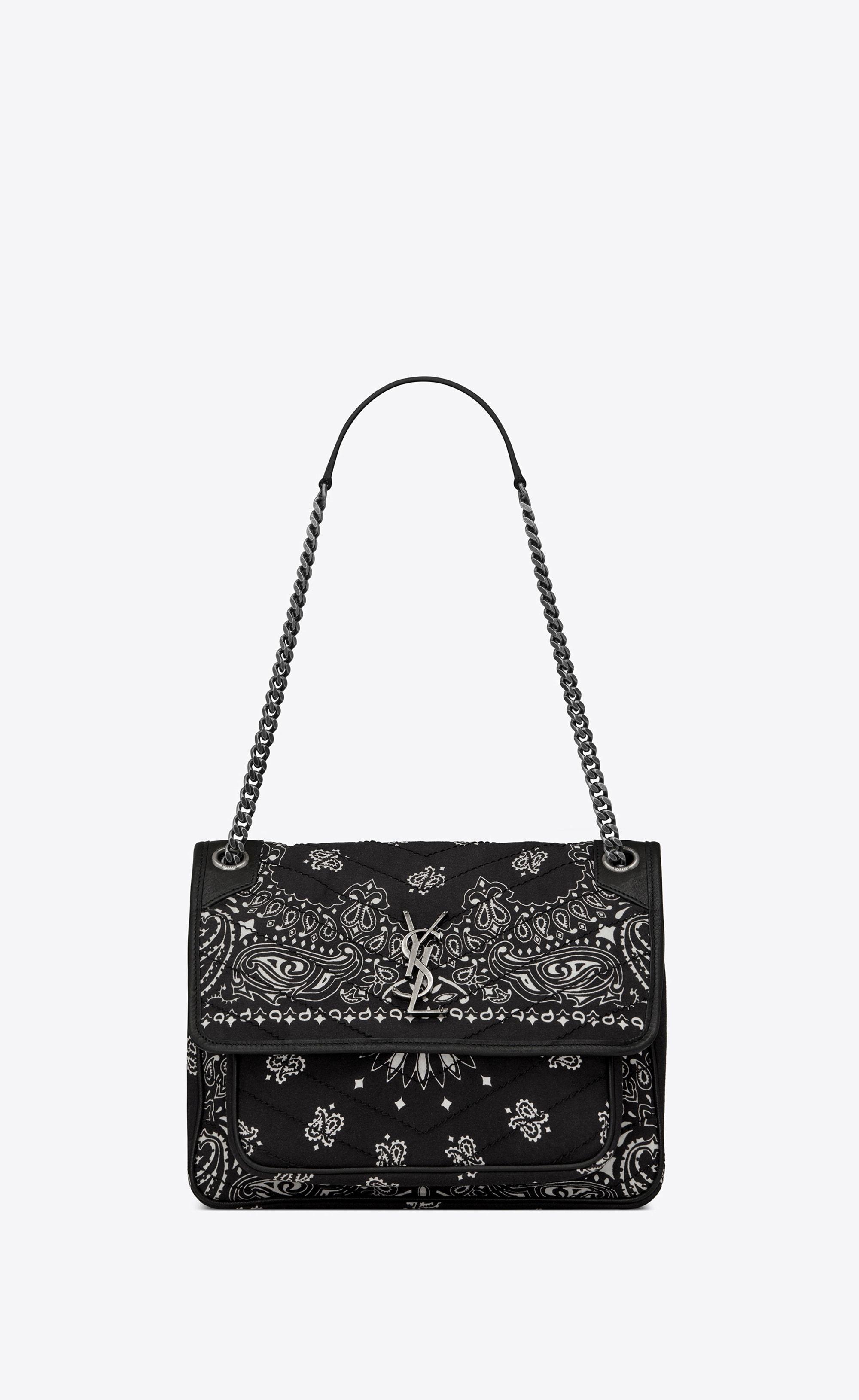 18a62d2682  Saint Laurent Medium Niki Bag In Bandana Fabric   YSL.com