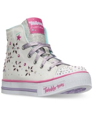Skechers Little Girls Twinkle Toes Shuffles Sparkly And Sweet