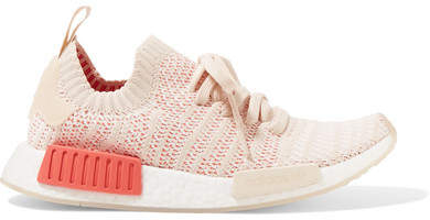 be14fcba1 adidas Originals - Nmd r1 Rubber-trimmed Primeknit Sneakers - Peach  casual   ad  running