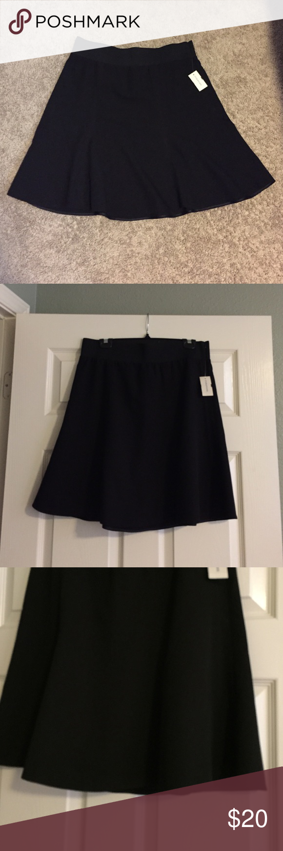 💥Final Price Drop💥 Black Skirt Never worn! Not a straight skirt has flow to it! Maurices Skirts Midi