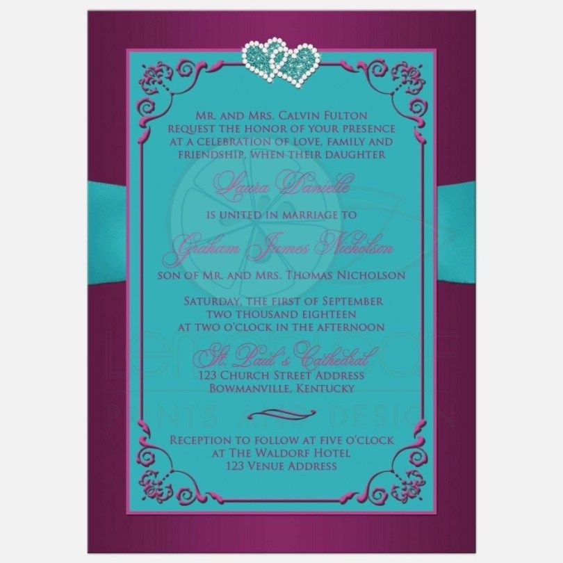 24 Brilliant Picture Of Purple And Teal Wedding Invitations With