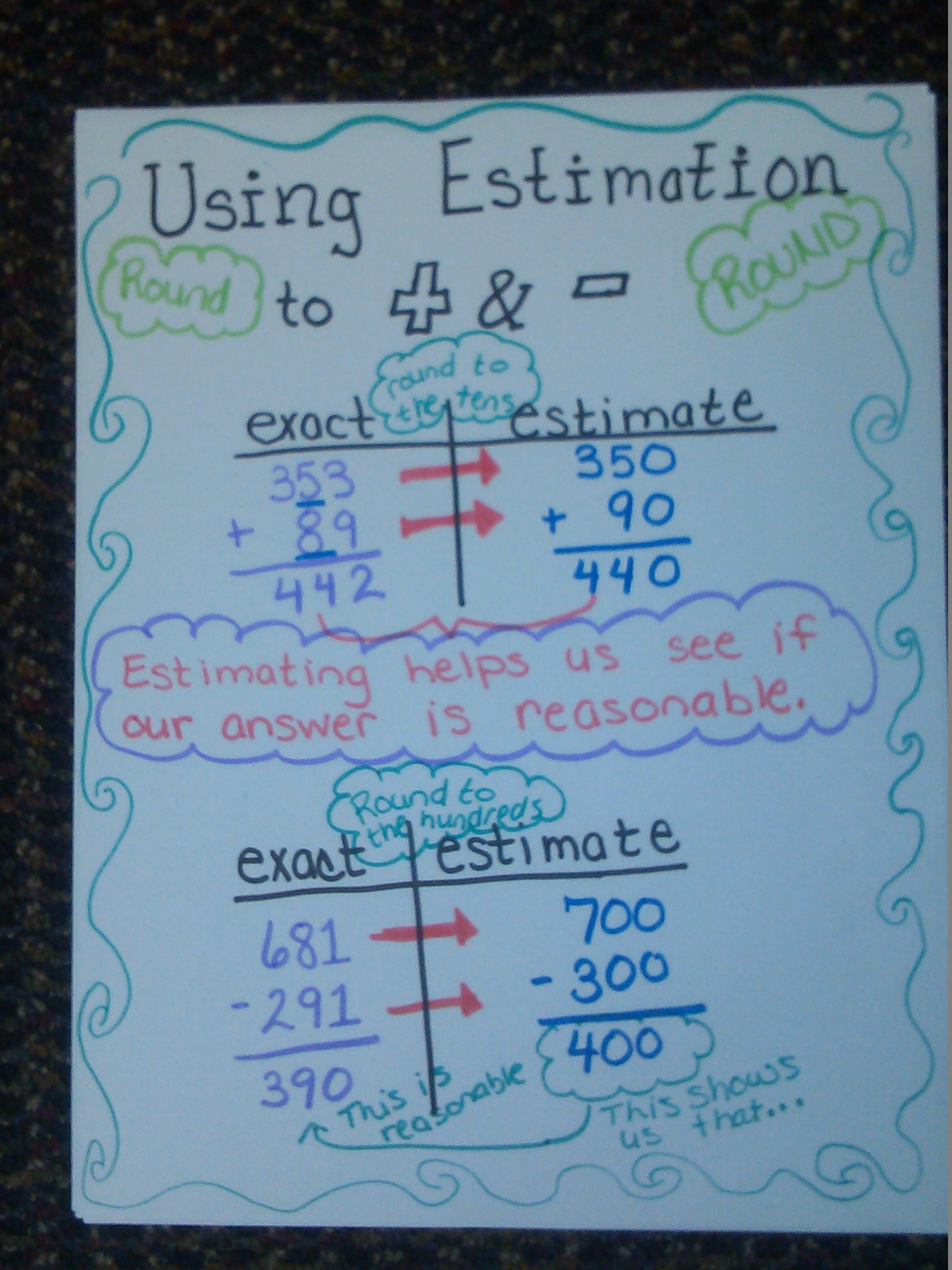 Estimating With Finding A Reasonable Answer In Addition And Subtraction Problems Free Printable Math Worksheets Math Homework Help Printable Math Worksheets Estimation word problems worksheets