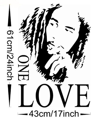 Wangyue Bob Marley One Love Vinyl Art Mural Wall Sticker Home Decal Dcor More Info Could Be Found At The Image Url Note A Bob Marley Bob Marley Art Marley