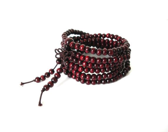 Check out this item in my Etsy shop https://www.etsy.com/listing/193714151/red-sandalwood-tibetan-bracelet-mala