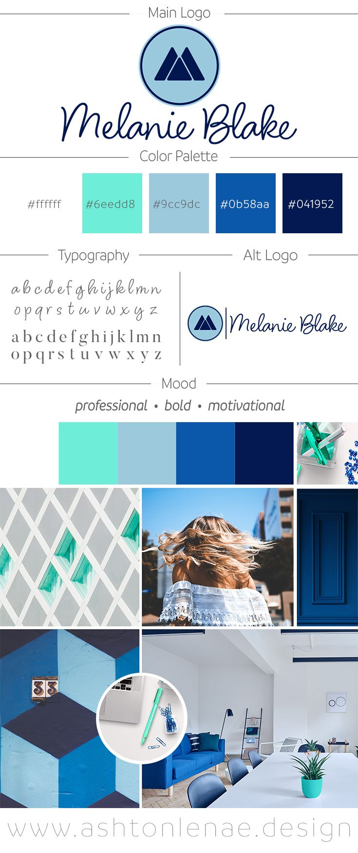 Bold Feminine Powerful Brand Identity Board and Logo