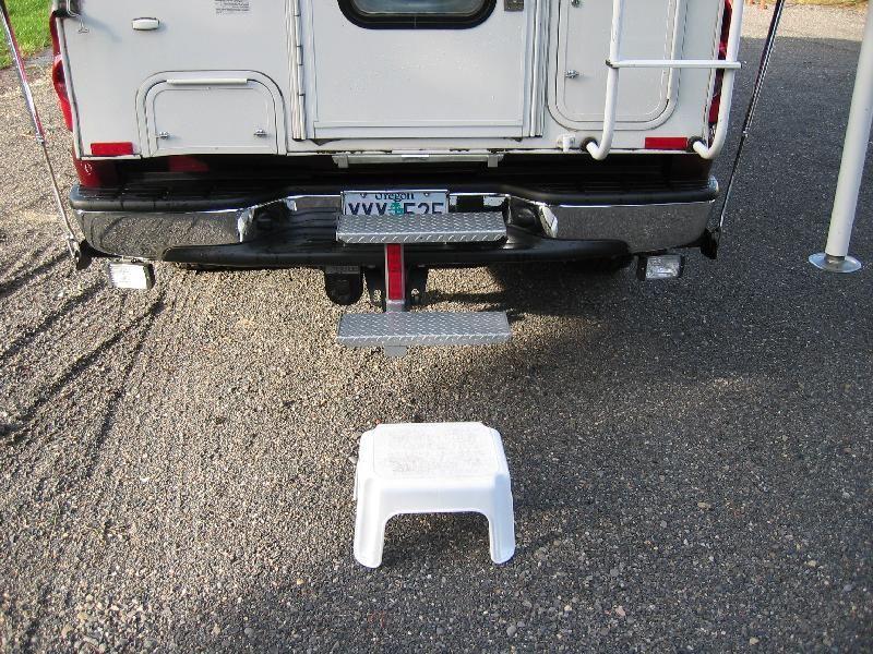 truck camper steps my camper has no step bumper so i