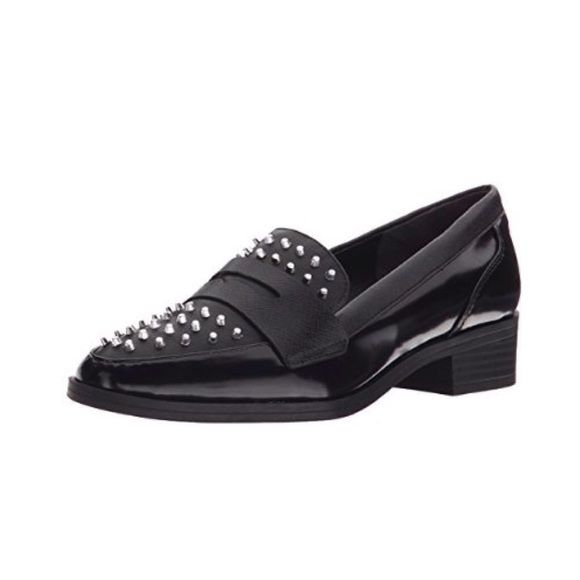 "Circus by Sam Edelman Black Studded Loafer Faux Leather upper with rubber sole. Silver tone studded accents. Approximate 1.5"" Heel. Comes with box. *more pics to come. size 7.5M. Still selling online for full price! Sam Edelman Shoes Flats & Loafers"