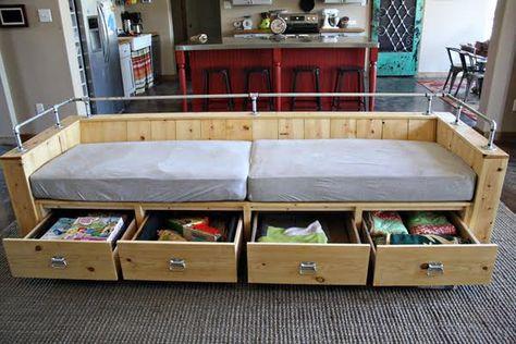 Modern Wood Storage Sofa Diy Storage Couch Diy Sofa Furniture
