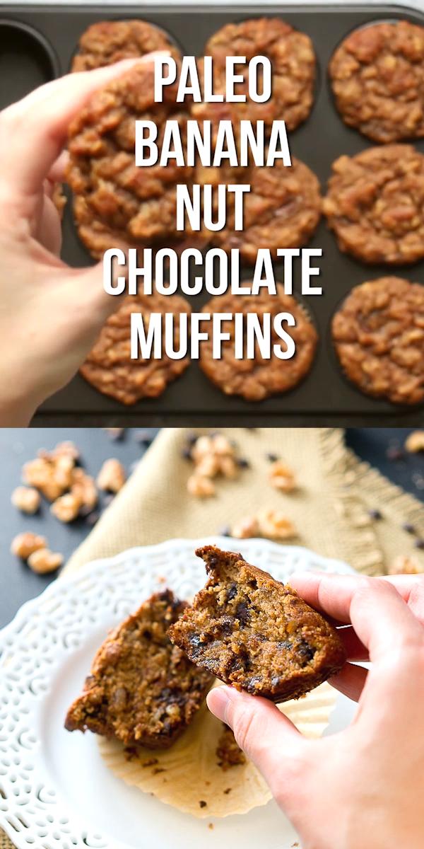 Photo of Riche, doux et moelleux Muffins Paleo Banana Nut Chocolate – ils sont sans gluten, …