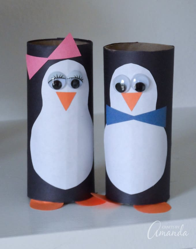 Toilet Paper Roll Penguin : toilet, paper, penguin, Penguins, Toilet, Paper, Rolls, Cardboard, Crafts,, Penguin, Crafts