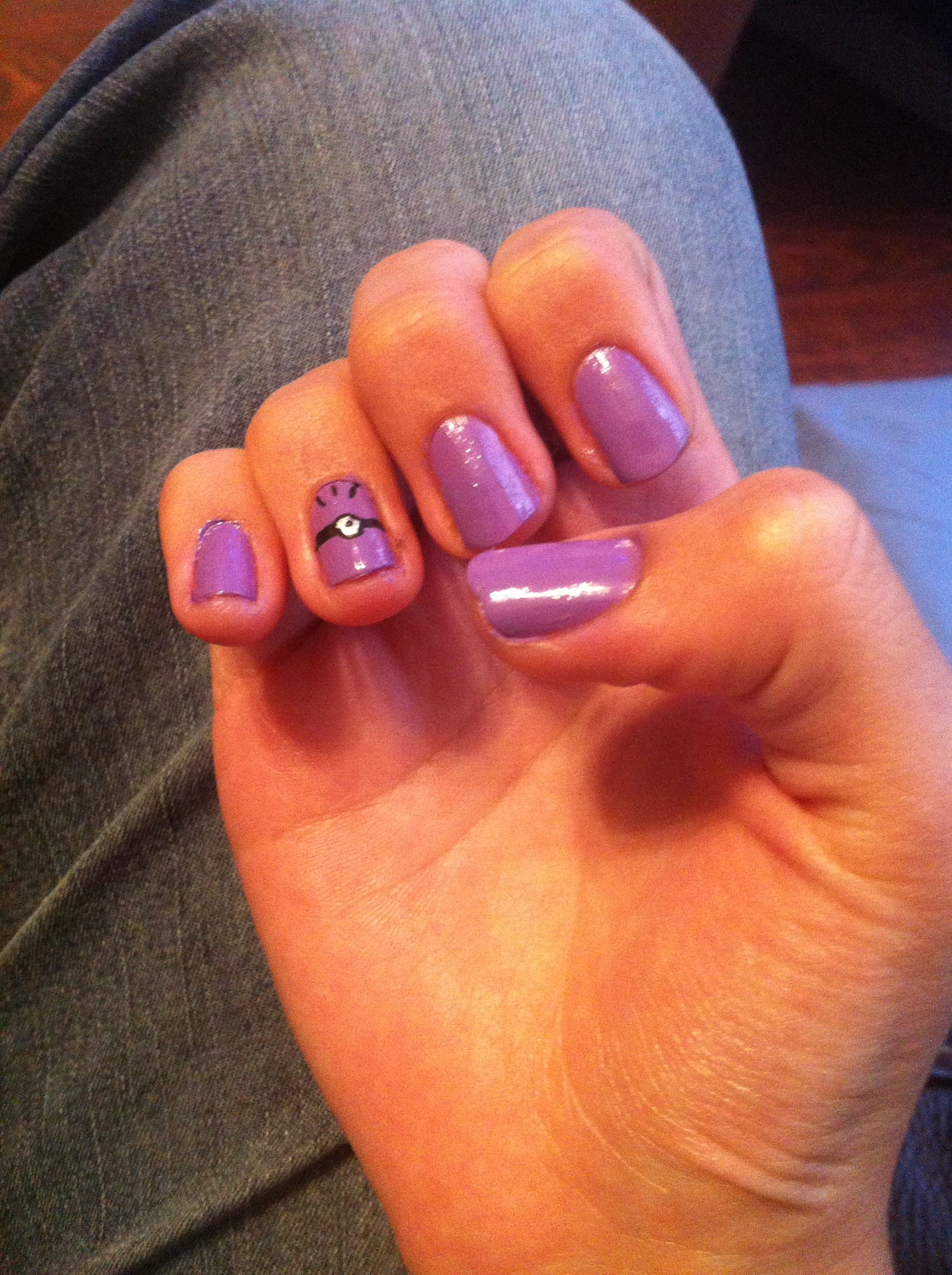 purple minion nails sleepover ideas pinterest
