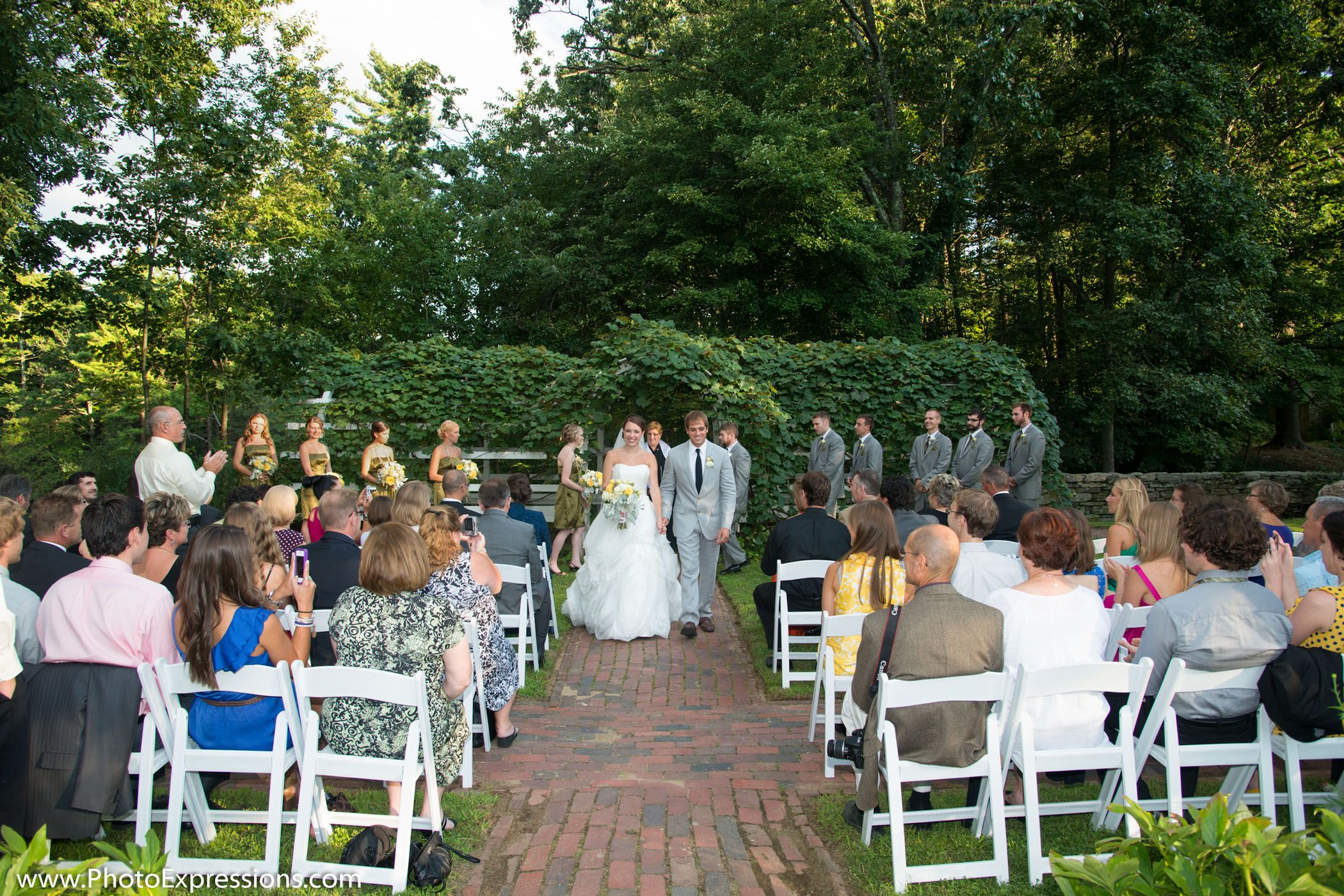 a wedding ceremony in the salem towne garden wedding pinterest